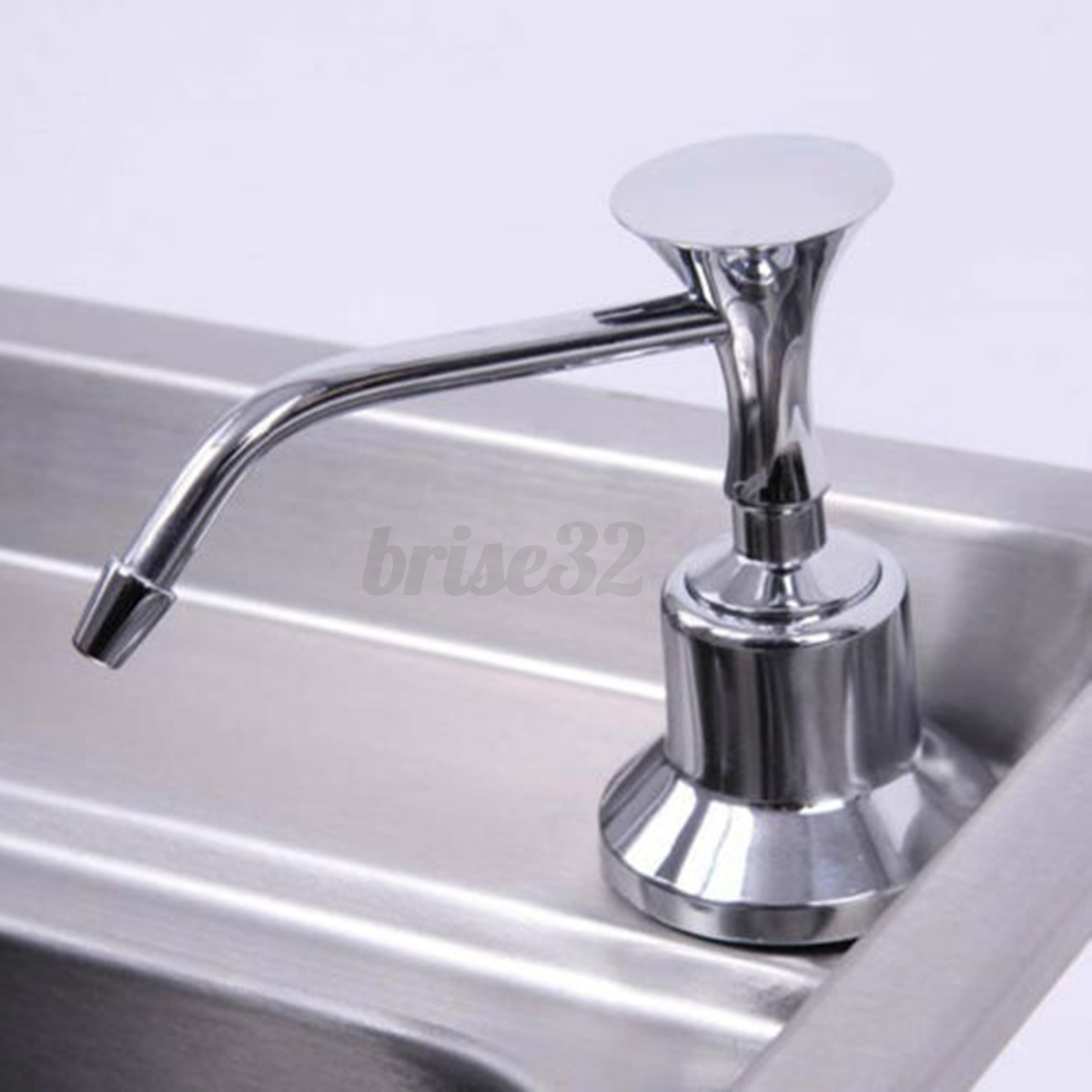Restroom Soap Dispensers 220ml White Kitchen Chrome Liquid Soap Dispenser Bathroom