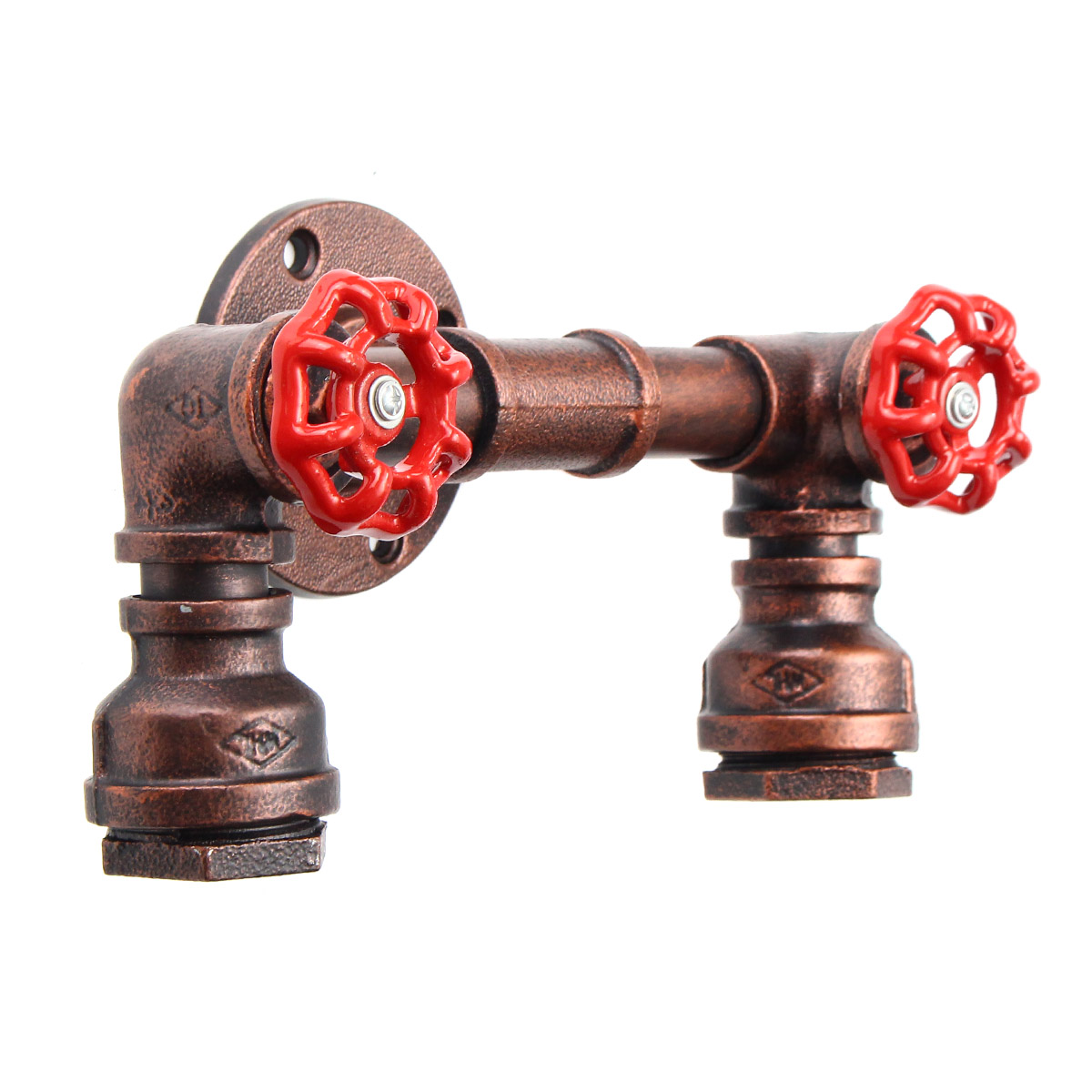 Iron Pipe Light Fixture Retro Industrial Steampunk Iron Water Pipe Shape Wall Lamp