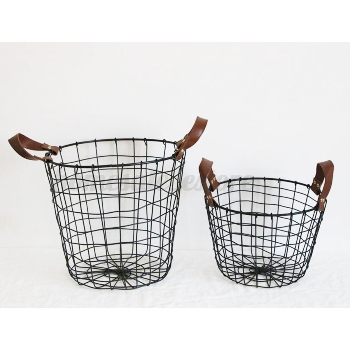 Decorative Metal Waste Baskets Metal Wire Iron Basket Magazine Post Stairs Storage Crate