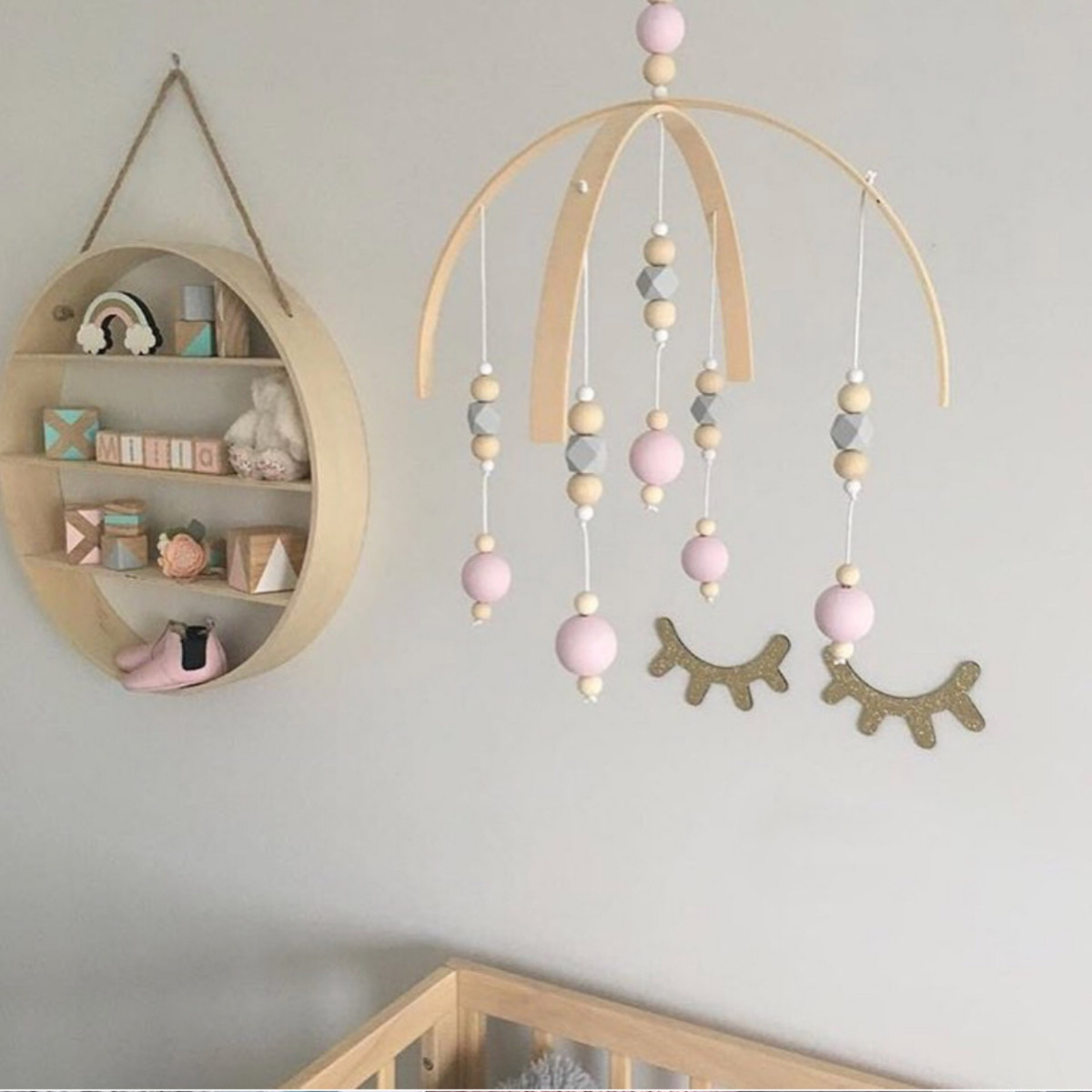 Wooden Baby Mobile Details About Diy Nursery Rotary Baby Mobile Crib Bed Toy Wind Up Wooden Beads Bell Holder