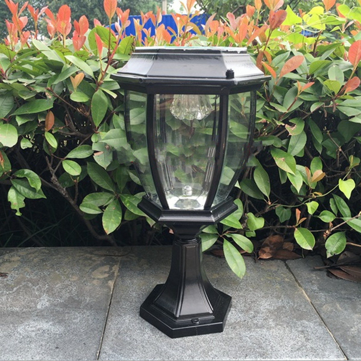Outdoor Solar Garden Lights Outdoor Exterior Solar Powered Led Pillar Light Post Lamp