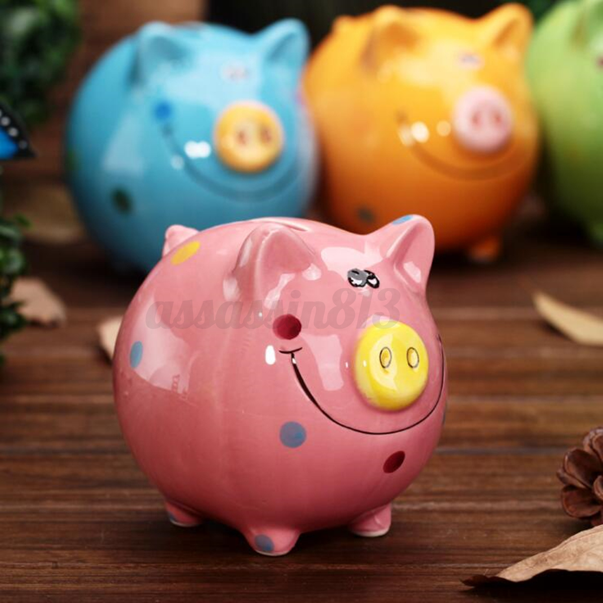 Coin Piggy Bank Toy 12cm Ceramic Piggy Bank Coin Money Cash Collectible Saving