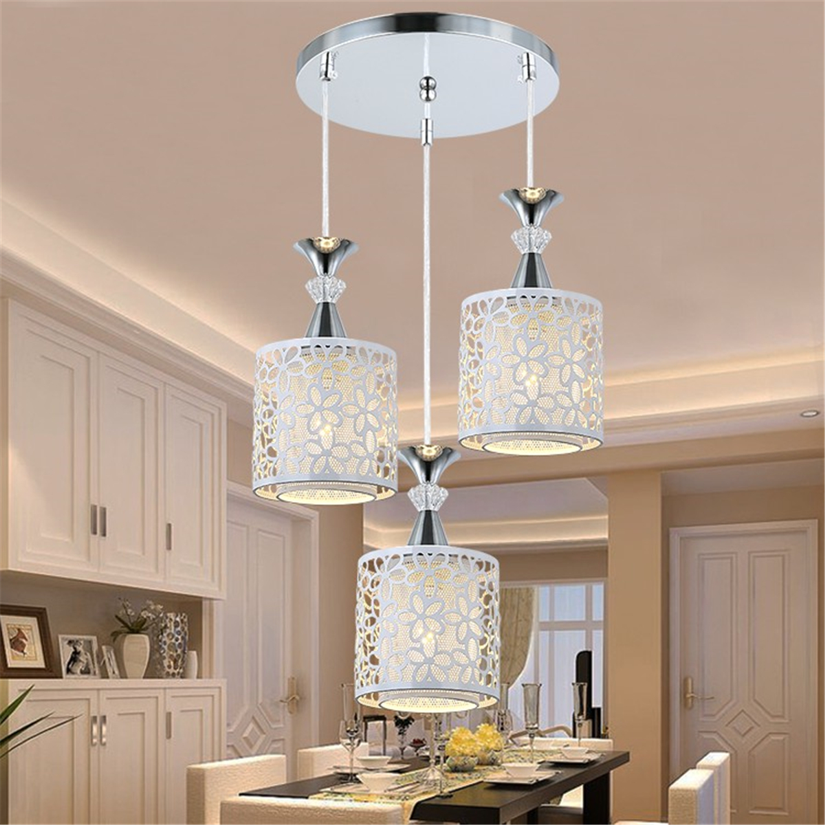 Lamparas Para Comedores Modern Flower Petal Ceiling Light Led Pendant Lamp Dining