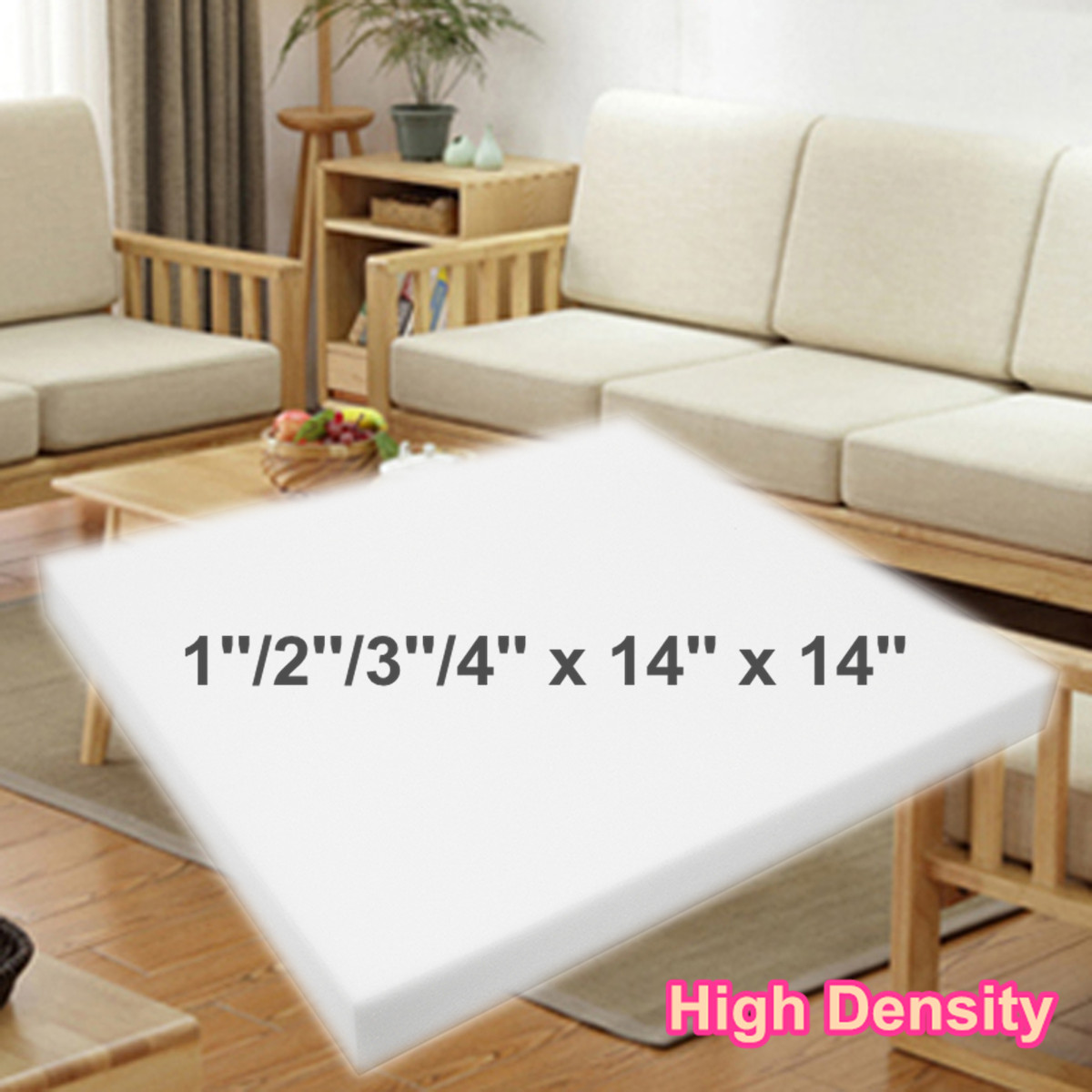 Sofa With Foam Seats Details About 14 Square High Density Seat Foam Sheet Upholstery Cushion Replacement Firm Pad