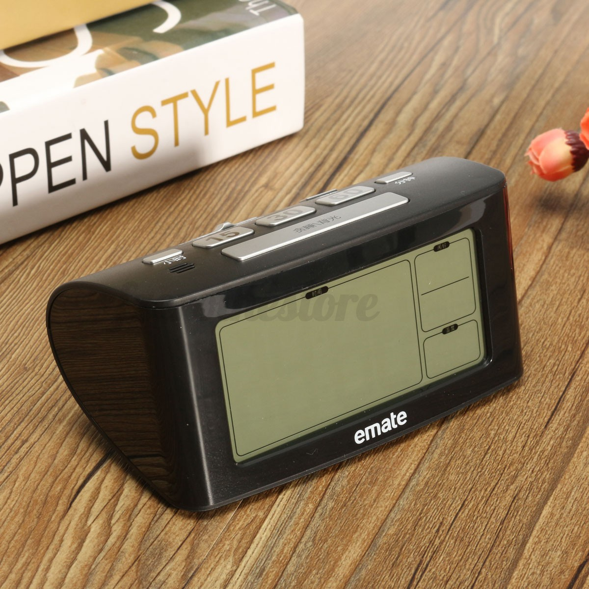 Bedside Alarm Clock Digital Bedside Led Digital Snooze Alarm Clock Thermometer Battery