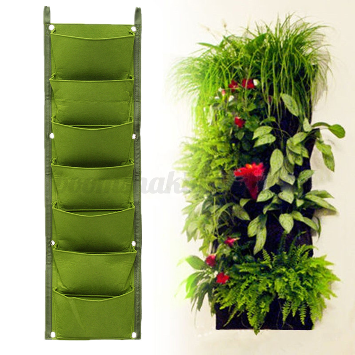 Wall Hanging Plants 1 4 7 Pocket Vertical Wall Garden Hanging Plant Planting