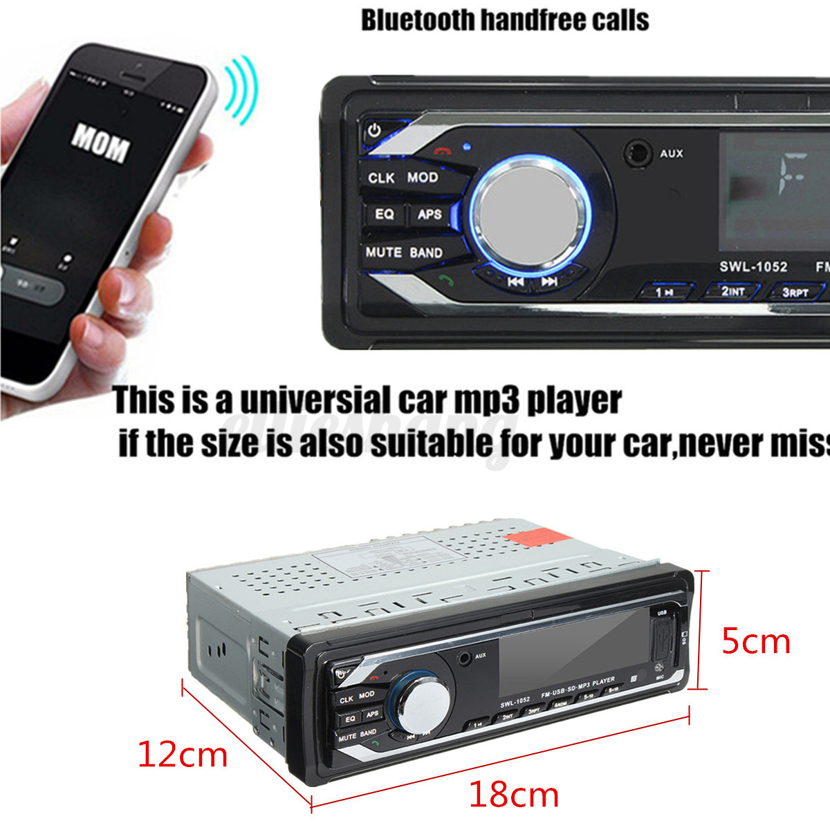 Manos Libres Bluetooth Para El Coche Radio Coche Bluetooth Manos Libres In Dash Sd Usb Aux Fm