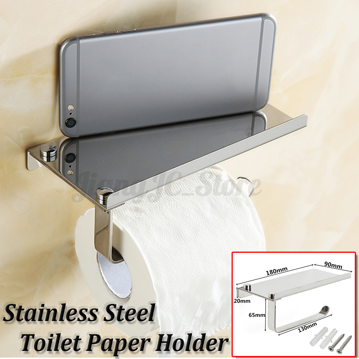 Stainless Steel Toilet Paper Stand Stainless Steel Toilet Roll Tissue Stand Paper Holder Wall