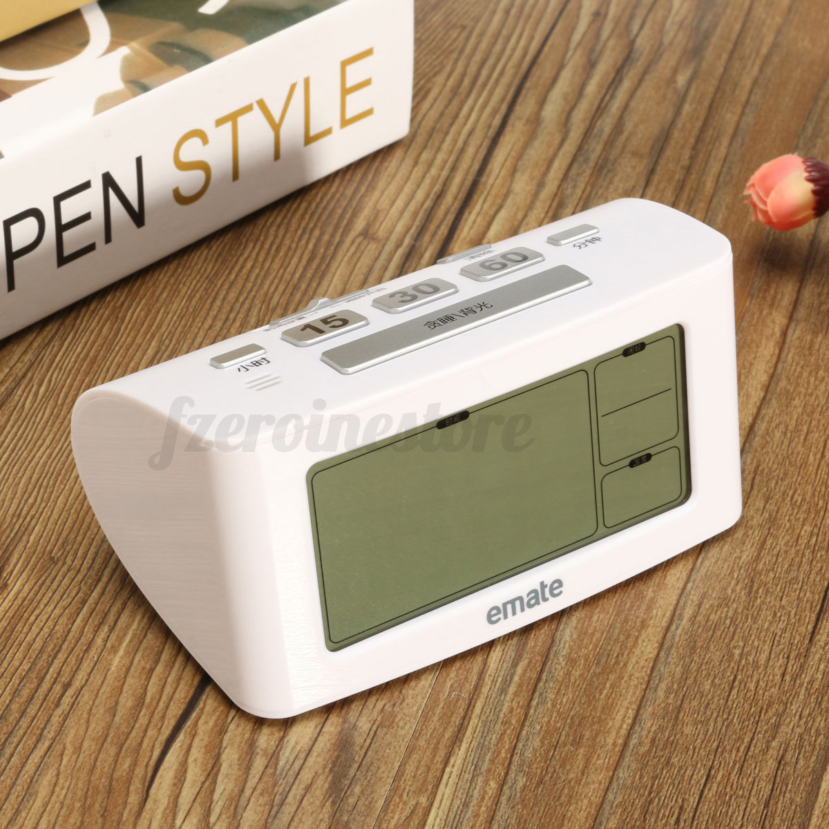 Small Led Alarm Clock Bedside Led Digital Snooze Alarm Clock Thermometer Battery