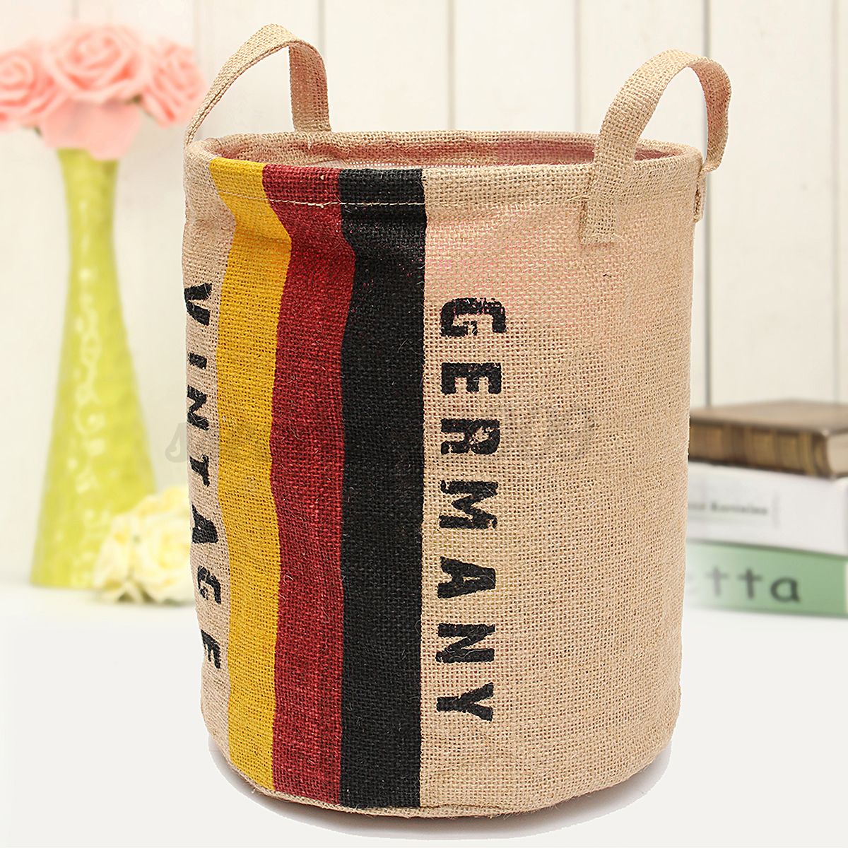 Laundry Clothes Bag Foldable Cotton Linen Washing Clothes Laundry Basket