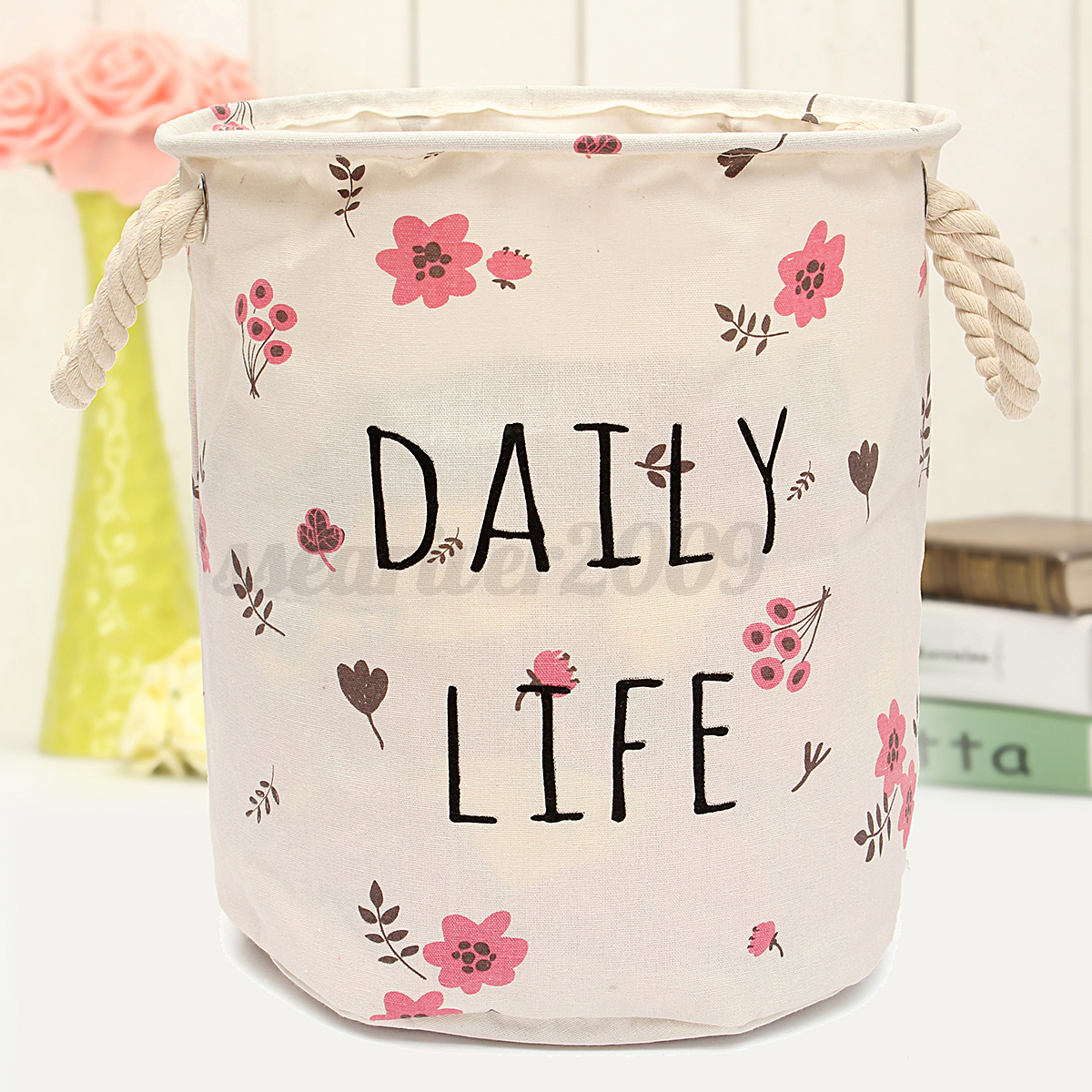 Canvas Hamper Bags Foldable Laundry Basket Sorter Bag Hamper Canvas Washing
