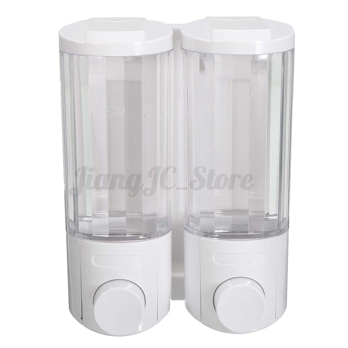 Restroom Soap Dispensers 2pcs Shower Gel Body Lotion Shampoo Liquid Wall Mounted