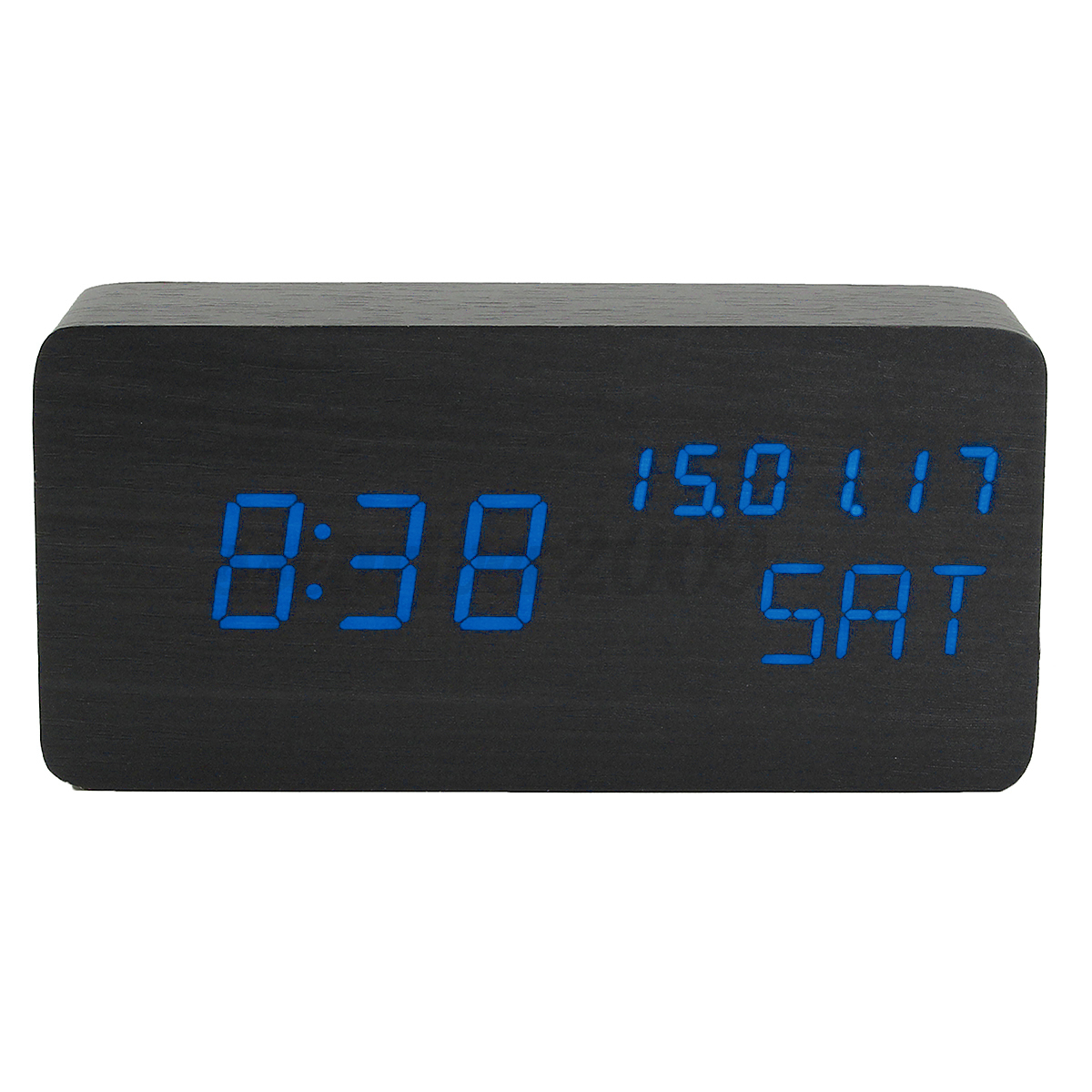 Digital Desk Clock Led Digital Alarm Clock Calendar Thermometer Table Desk