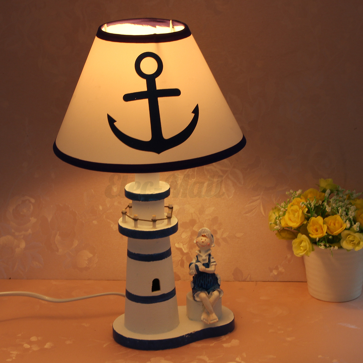 Lighthouse Touch Lamp Nautical Lighthouse Desk Lamp Bedside Decor Study Light