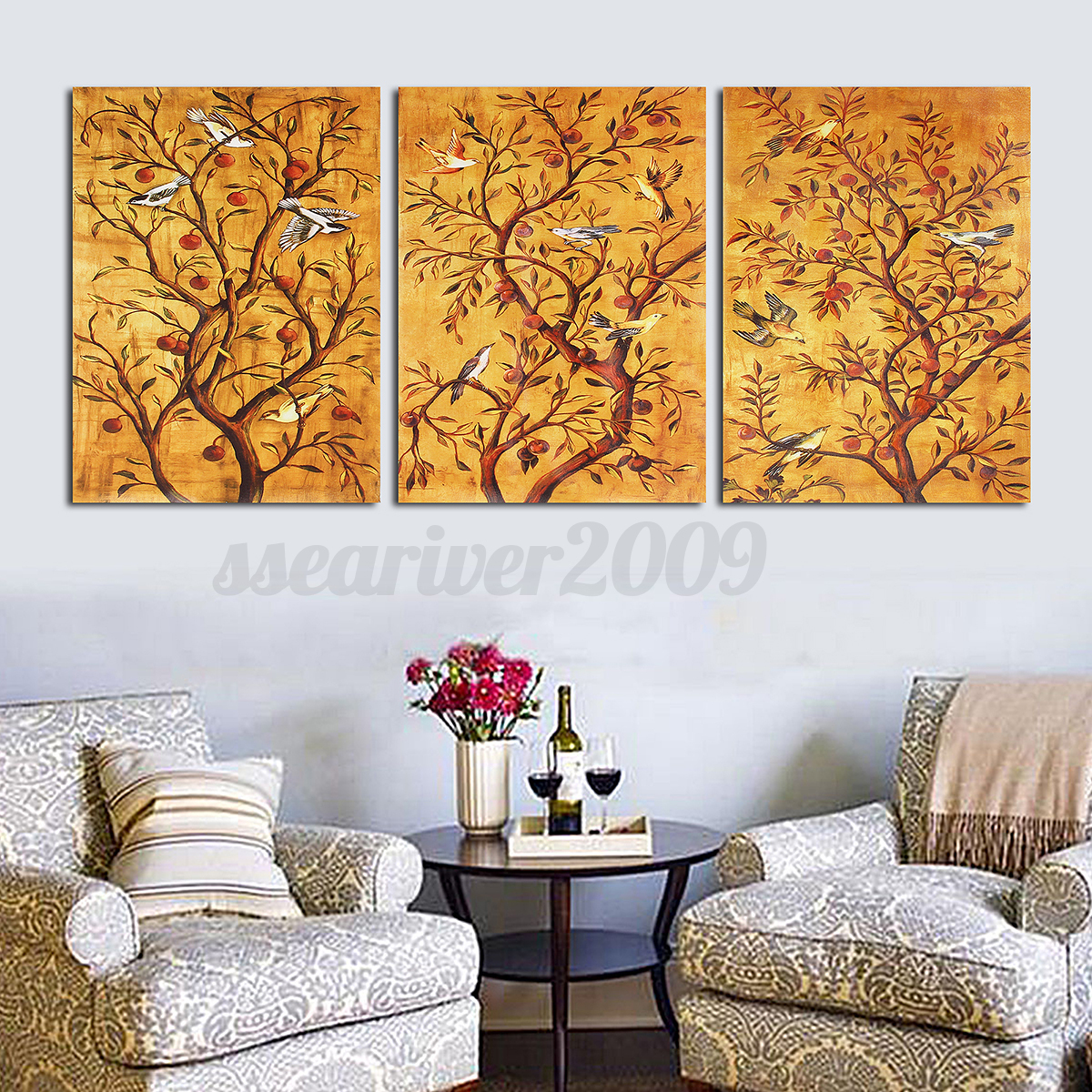 Home Decor Paintings Large 3 Panels Modern Abstract Canvas Art Oil Painting