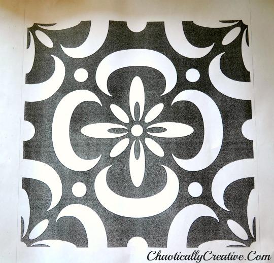 Stenciled Porch Floor Chaotically Creative