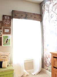 Easy DIY Wooden Window Cornice - Chaotically Creative