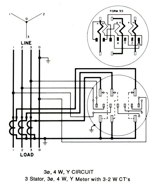 3 phase electric meter wiring diagram