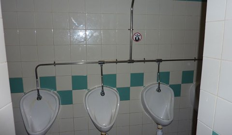 Gents loos - relatively clean! Relatively...
