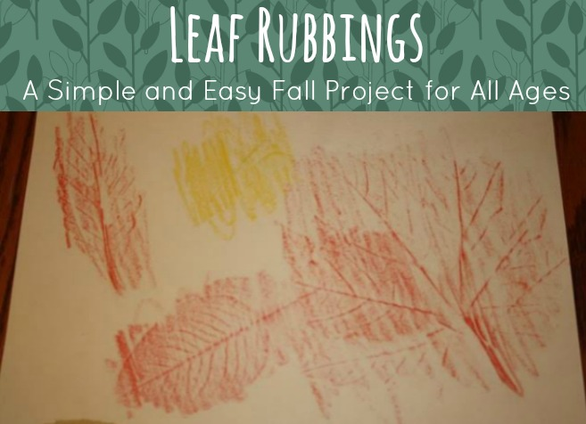 Autumn Leaf Rubbings