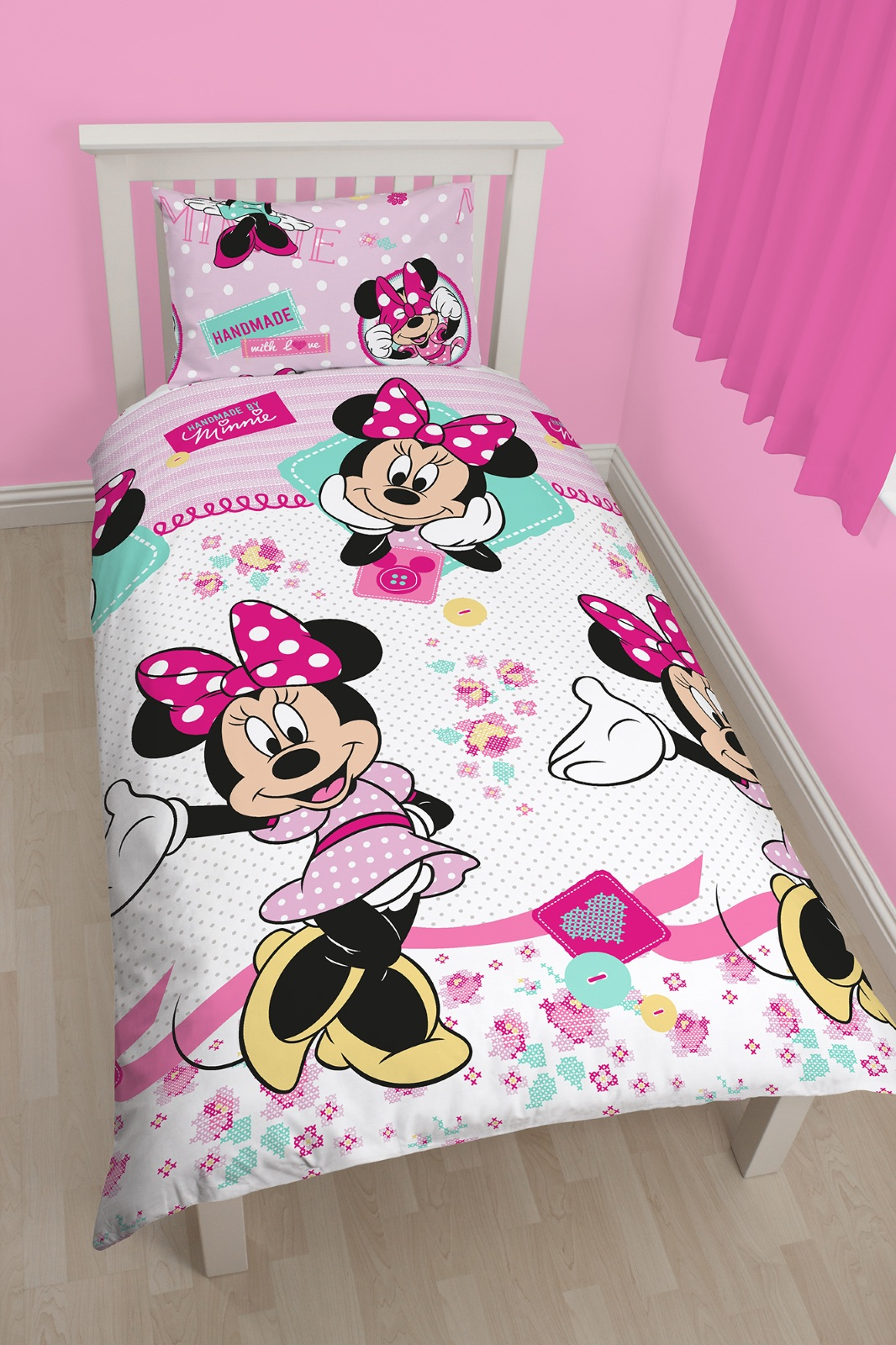 Piumone Minnie Disney Minnie Mouse Handmade Reversibile Singolo Copri