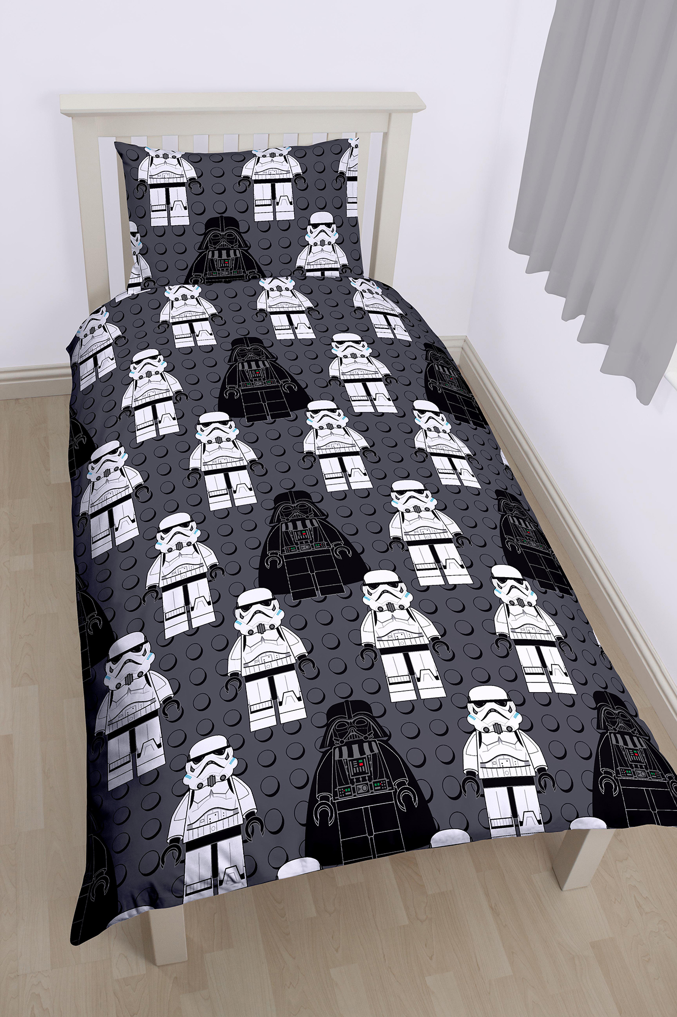 Stormtrooper Bed Sheets Cotton Blend Material Lego Star Wars Villains Boys Single