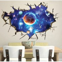 Galaxy Planet Space Wall Sticker For Kids Boys Bedroom