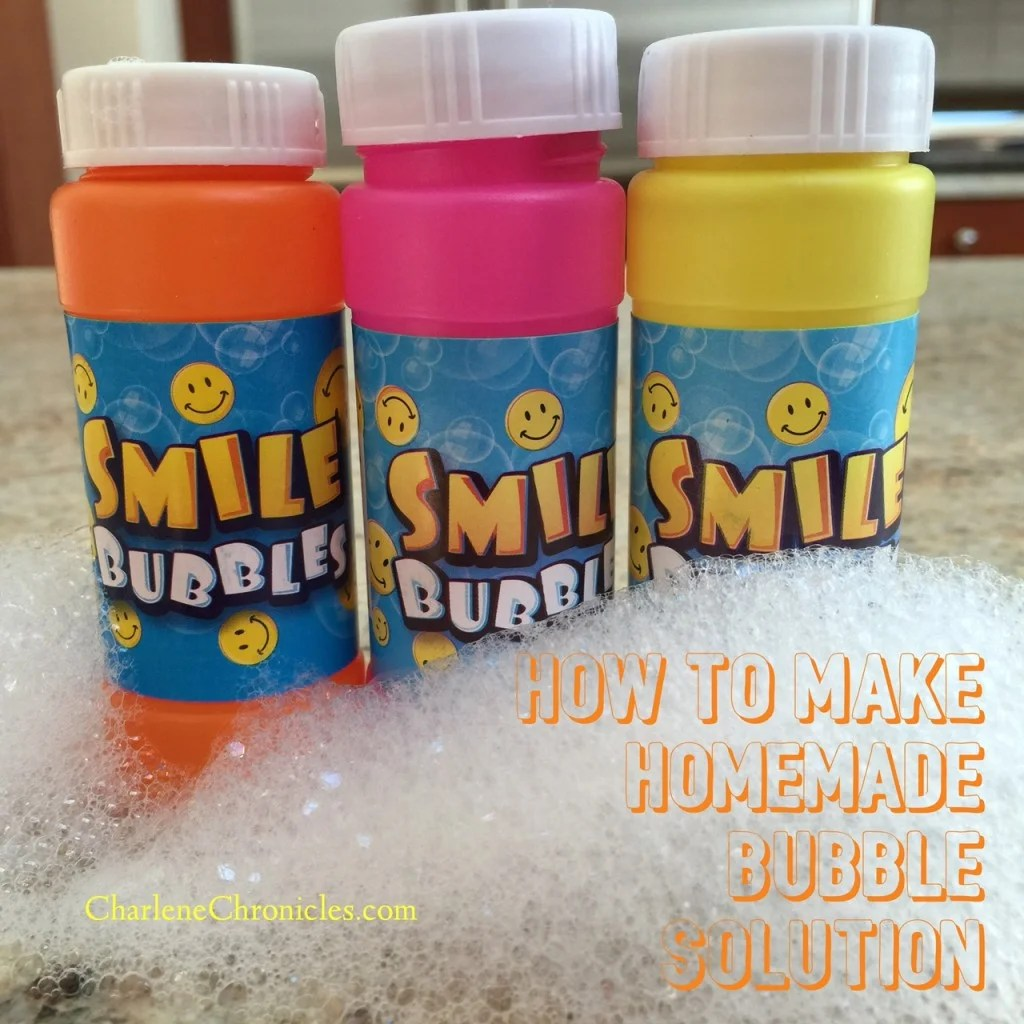 Diy Soap Without Glycerin Homemade Bubble Solution Charlene Chronicles