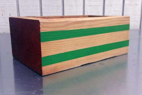 $200 Home Depot Gift Card Giveaway and Adding Stripes and Color to Our Wood Block Planter