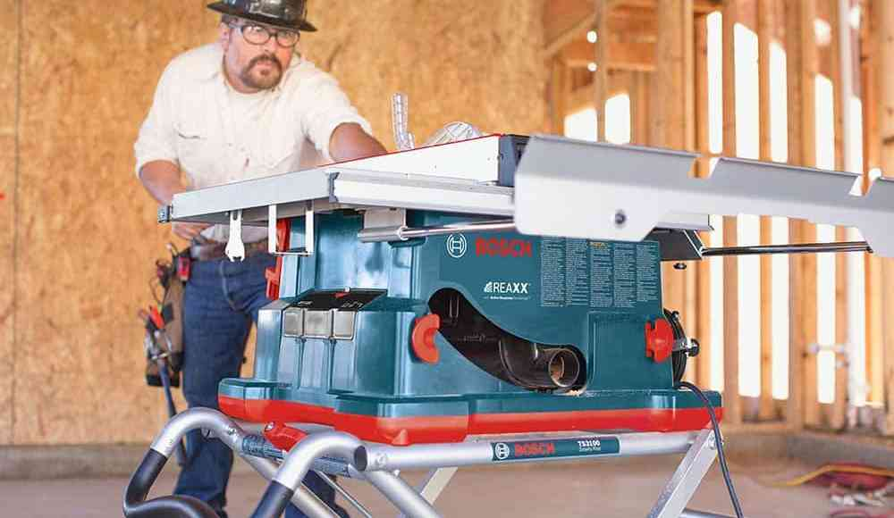 Bosch Reaxx Jobsite Table Saw Has Arrived