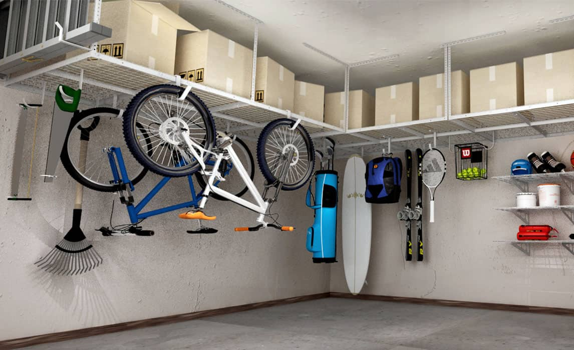 How To Install Overhead Garage Shelving