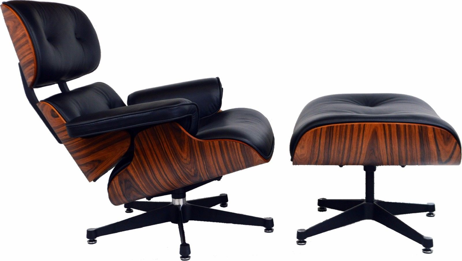Chair Eames Charles Eames Lounge Chair Light Rosewood Black Leather - Charles Eames