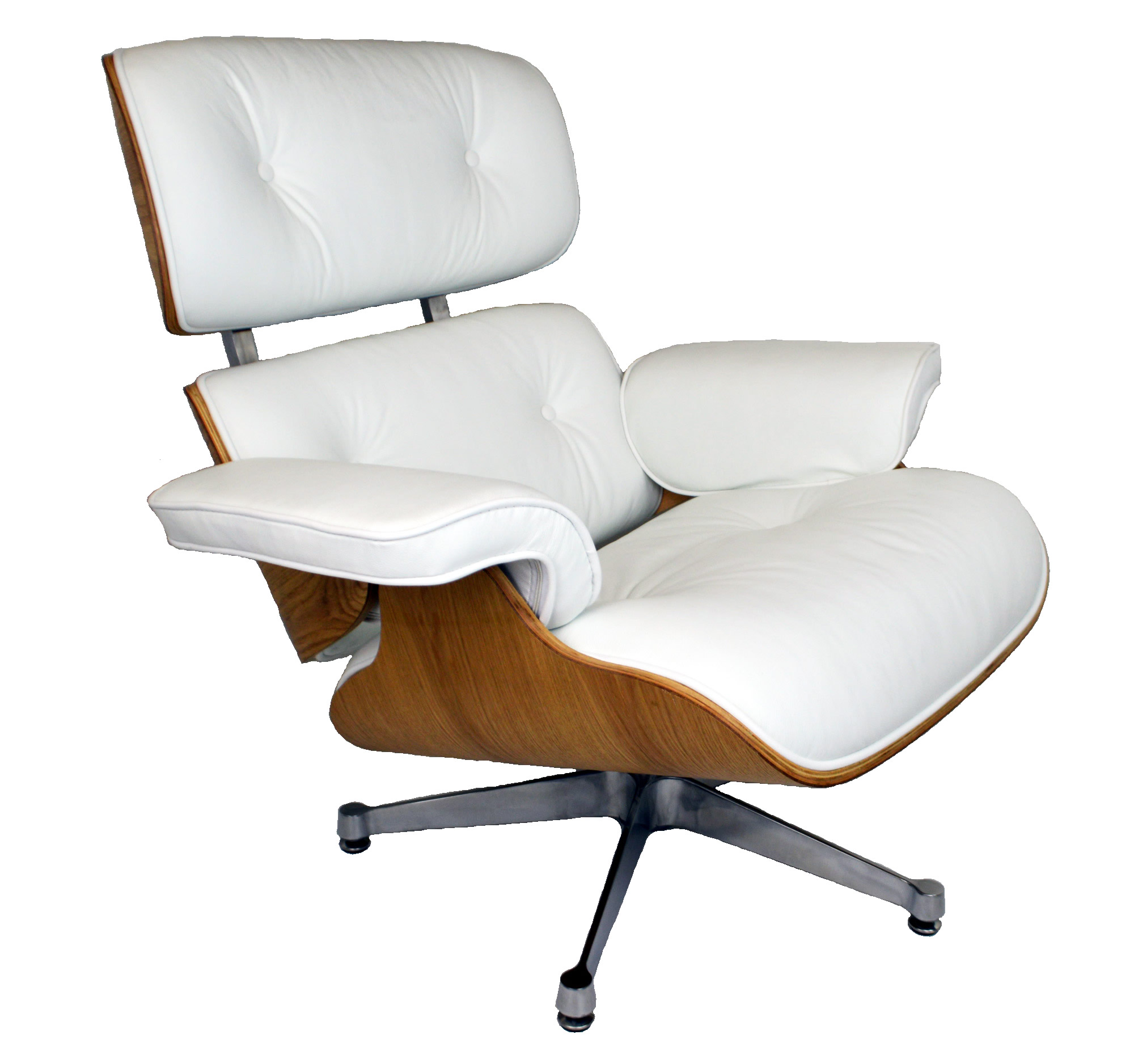 Chair Eames Charles Eames Lounge Chair Ashwood White Leather - Charles Eames