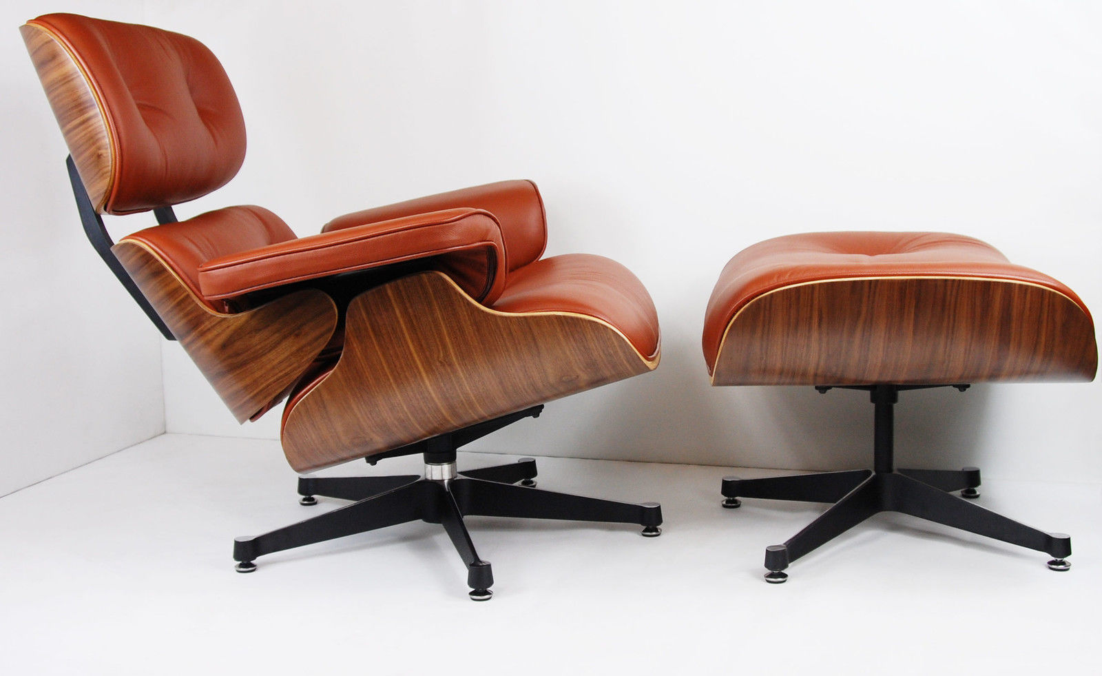 Chair Eames Charles Eames Chair - Walnut - Brown Tan Leather #2 - Charles Eames