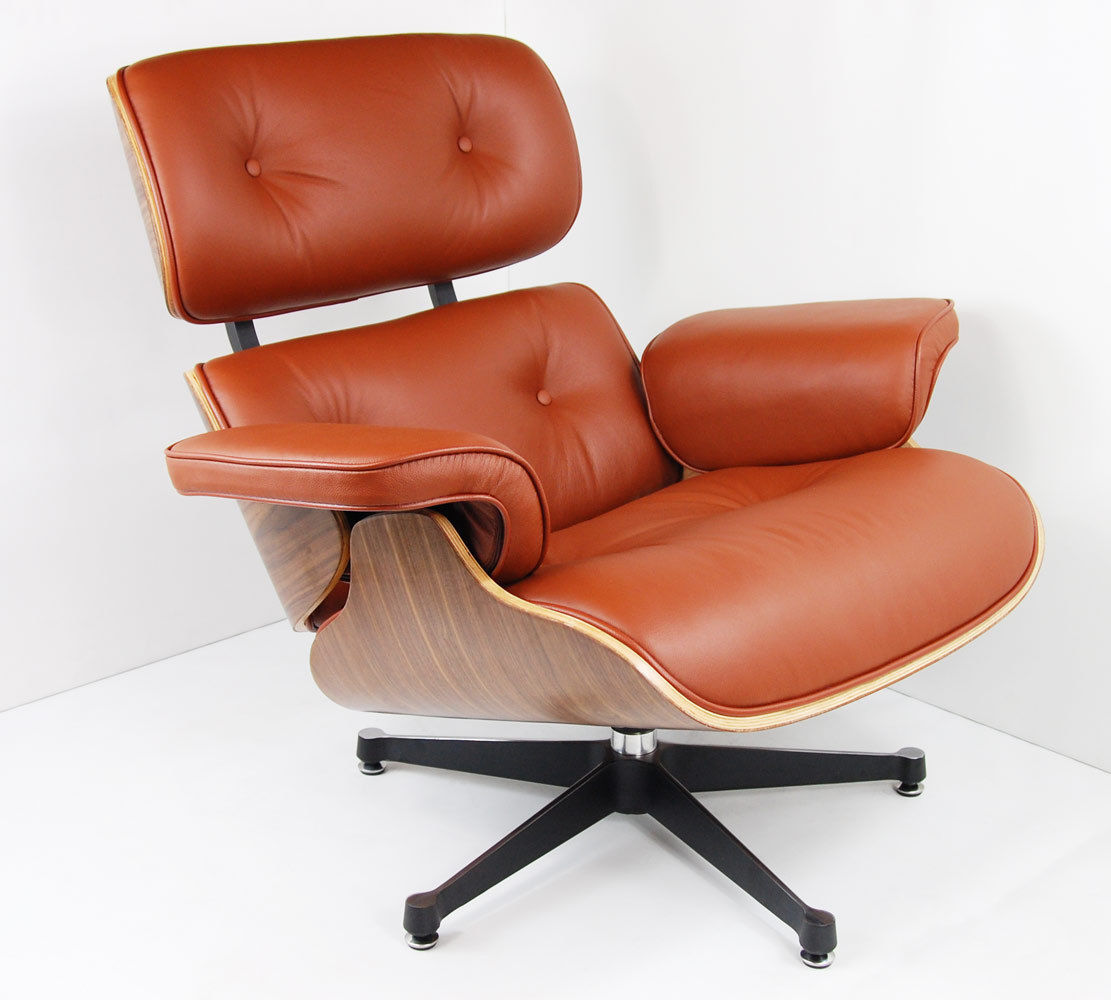 Charles Eames Lounge Chair Charles Eames Chair - Walnut - Brown Tan Leather #2 - Charles Eames