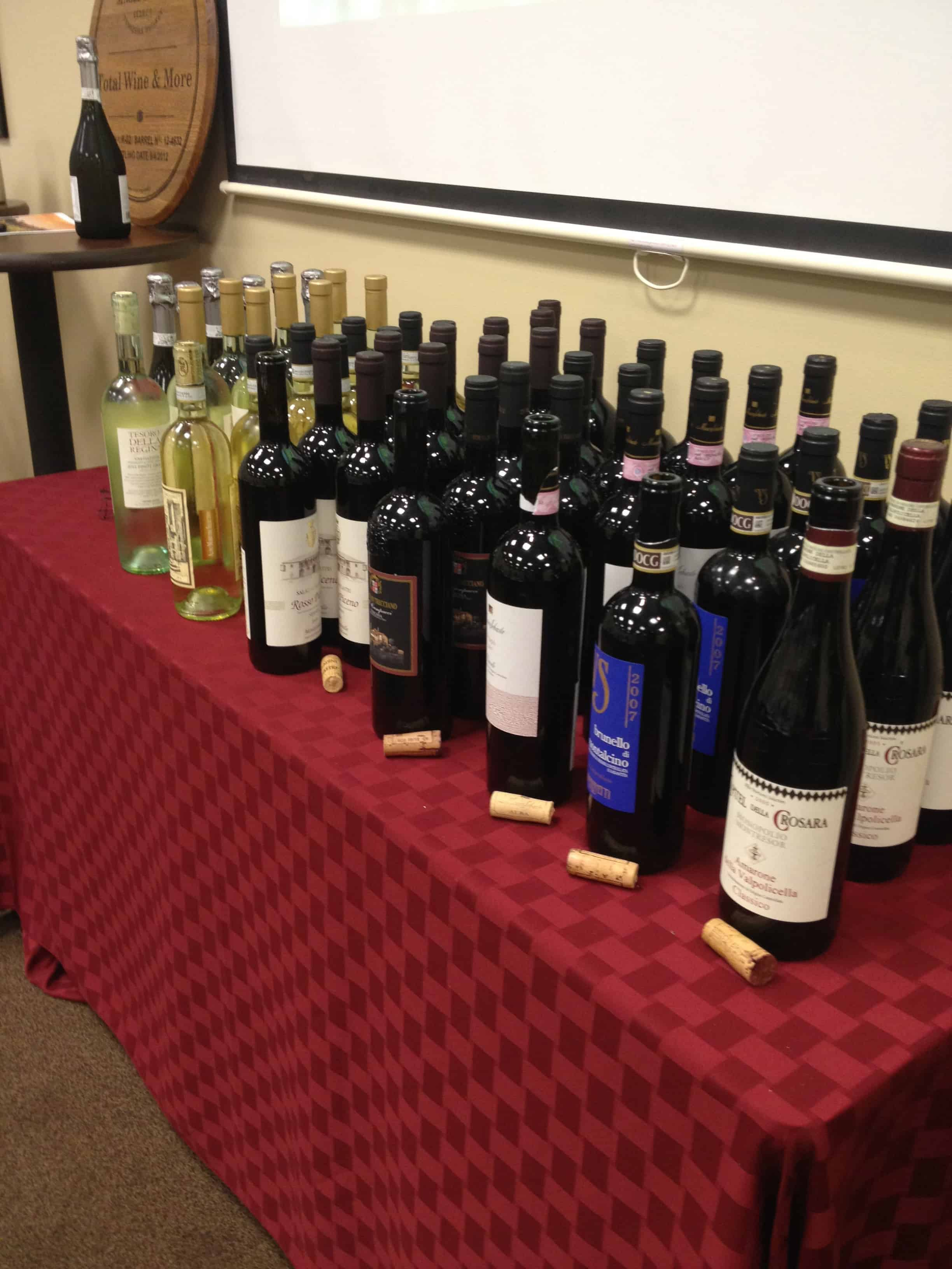 Vasco Sassetti A Tour Of Italy Wine Class At Total Wine