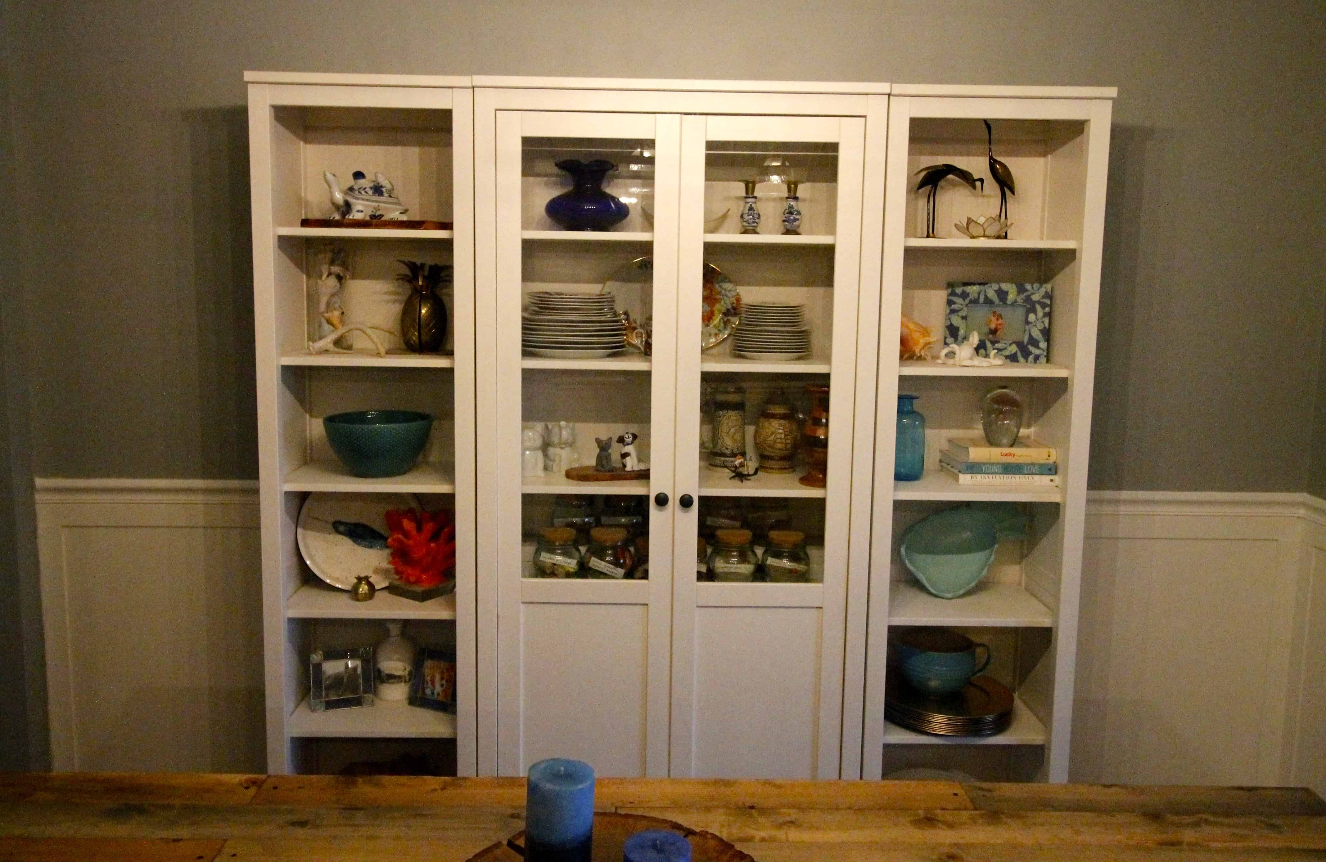 Hemnes Glass Door Cabinet Our New China Cabinet Set Up - Ikea Hemnes Glass Door Cabinet