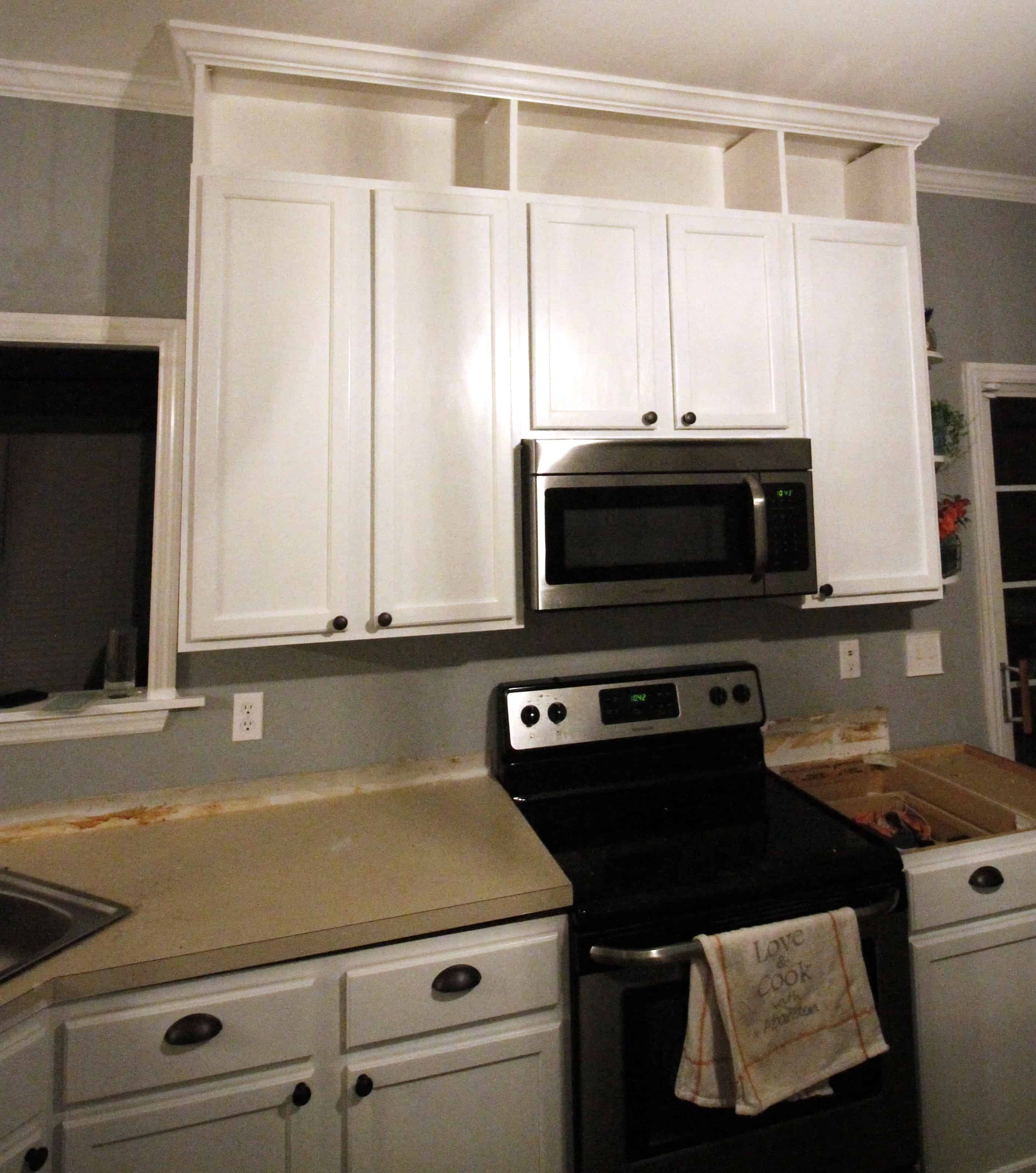 Diy Extend Kitchen Cabinets How To Extend Kitchen Cabinets To The Ceiling Charleston