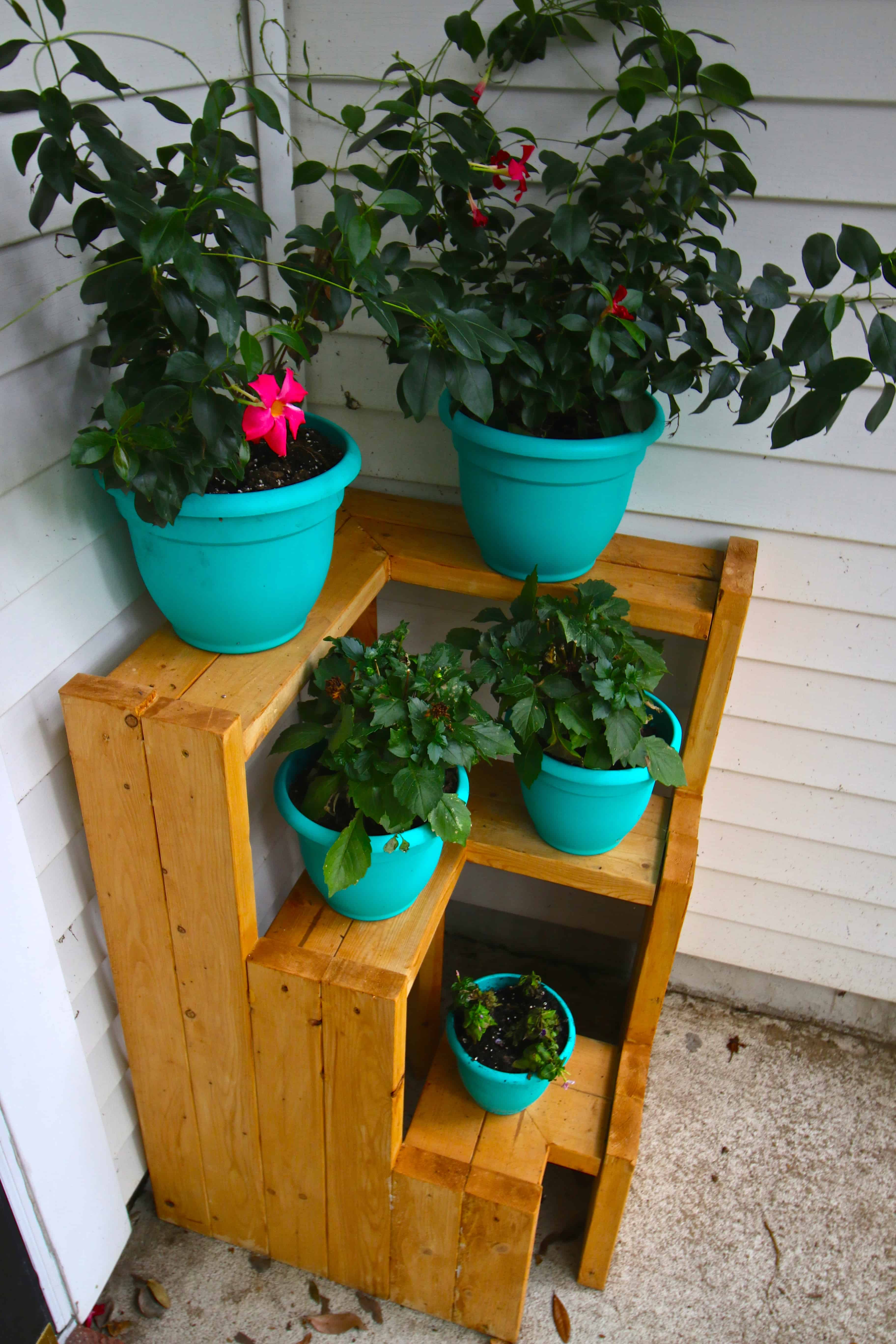 Tiered Plant Holders Diy 3 Tiered Corner Plant Stand Charleston Crafted