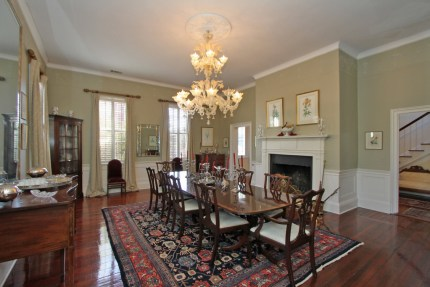 Formal dining room with space for 14 or more guests