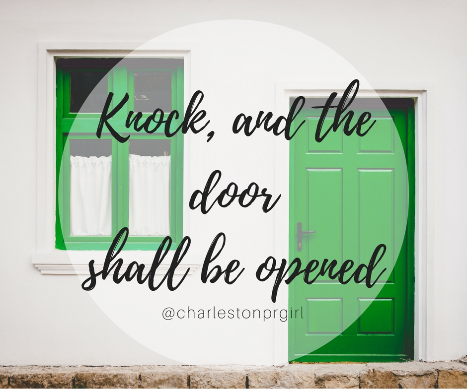 Knock, and the doorshall be opened