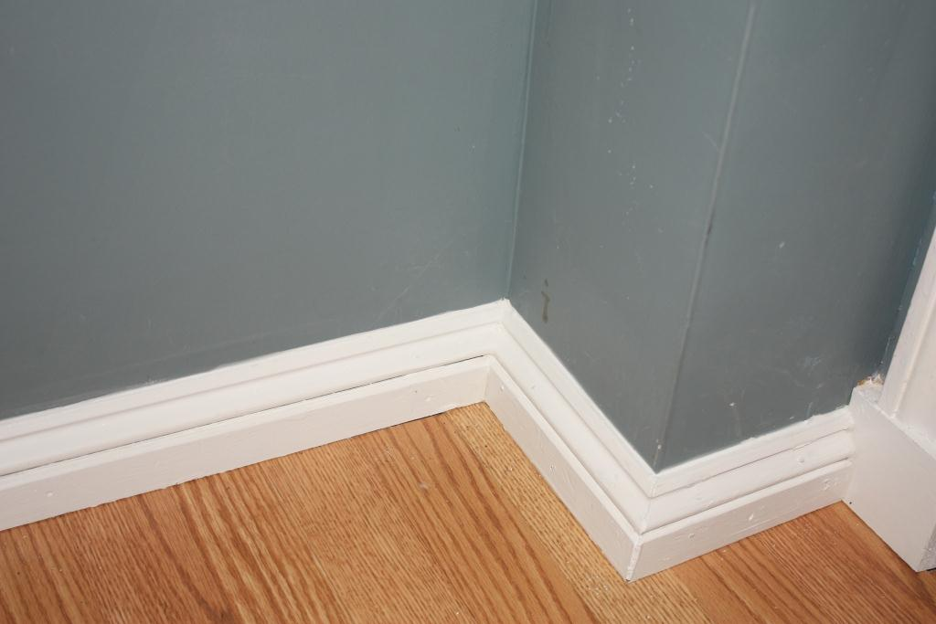 Grey Baseboard Molding For Wooden Stairs Area | Baseboards And