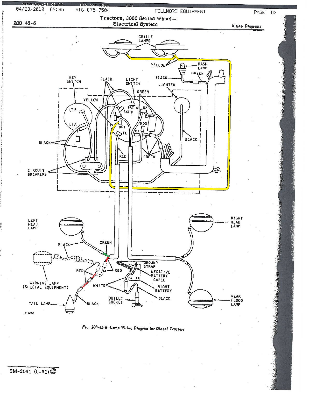 John Deere 2040 Ignition Switch Wiring Diagram Auto