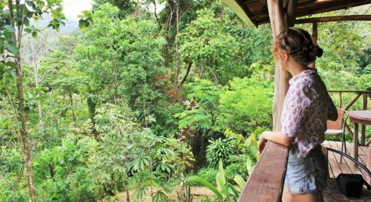 Charlie looks out over spice farm costa rica - Charlie on Travel