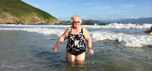Grandma at the beach