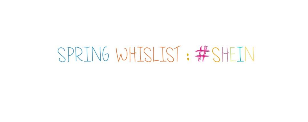 spring whislist