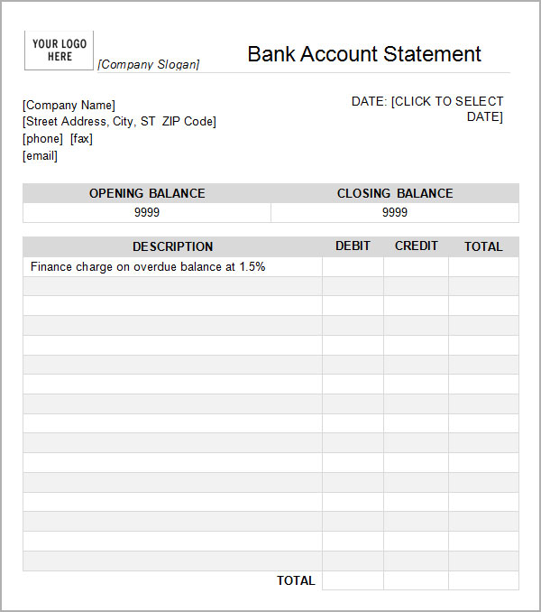 Bank Statement Template Download Free charlotte clergy coalition