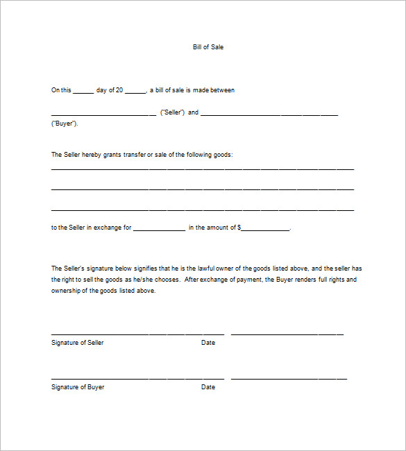 Business Bill Of Sale Template charlotte clergy coalition