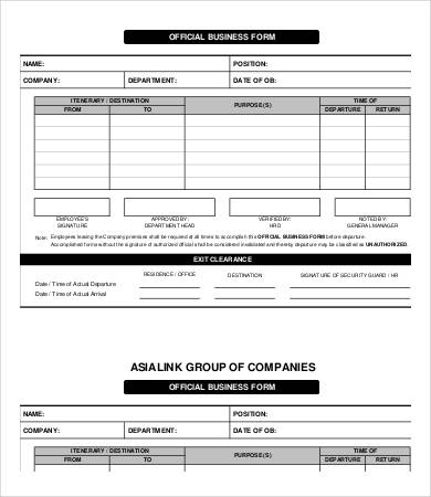 Business Forms Templates charlotte clergy coalition