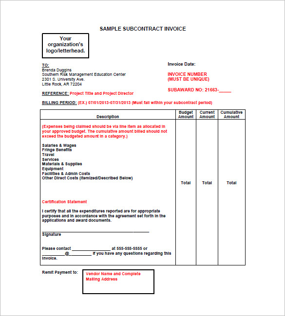 Construction Invoice Sample charlotte clergy coalition
